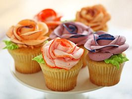 Floral cup-cakes