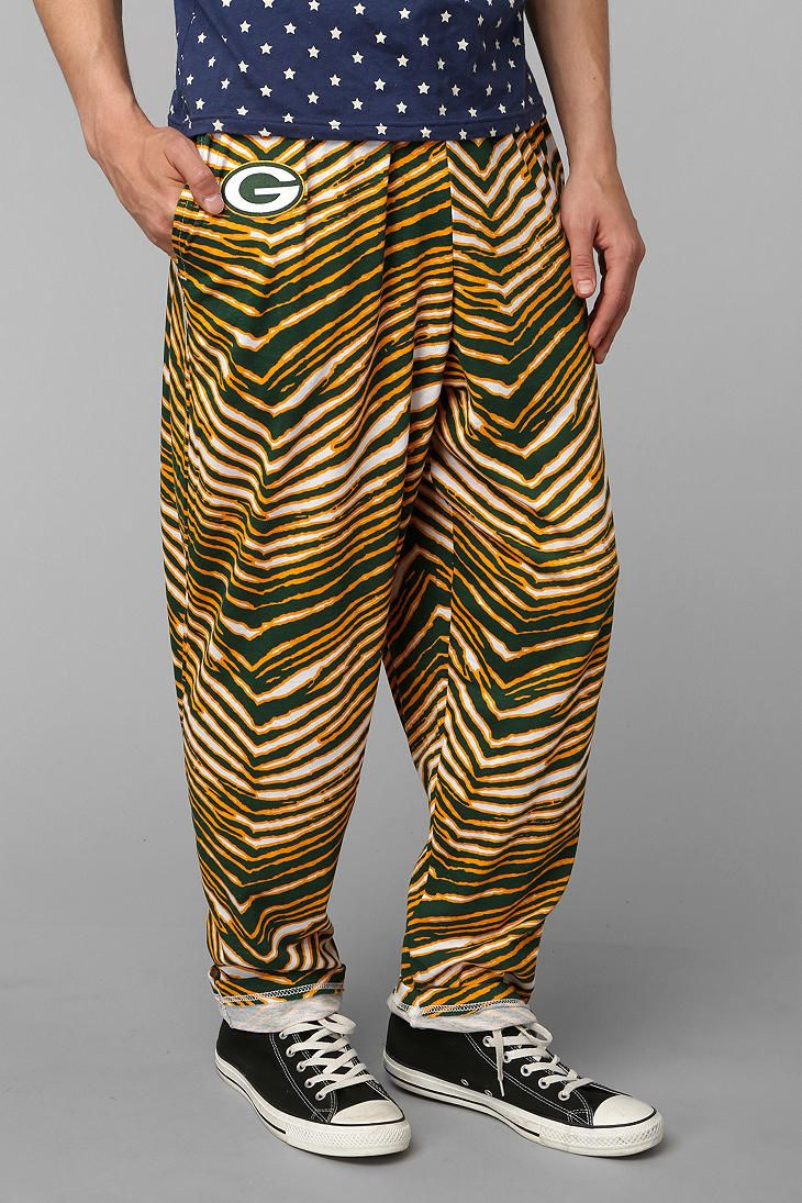Zubaz Green Bay Packers Pant Green Bay Packers Green Bay Packers Team Lightweight Pants