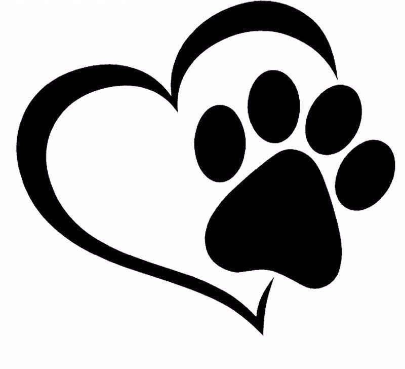 Paw Print And A Heart Car Decal – I Love Cat Socks   I love