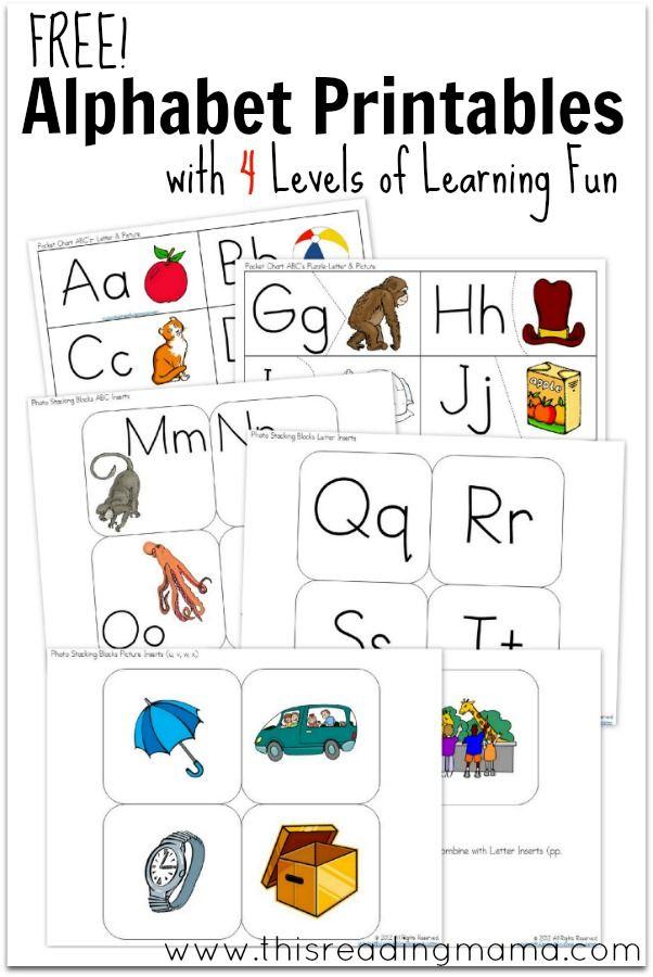 Free Alphabet Printable For The Pocket Chart Free Alphabet Printables Learning Letters Abc Flashcards