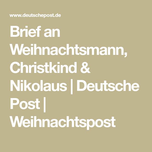 Brief an Weihnachtsmann, Christkind & Nikolaus Deutsche