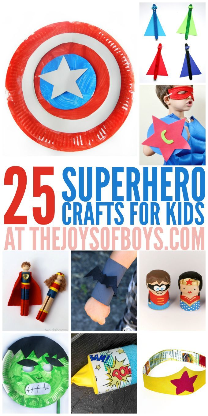 25 Superhero Crafts For Kids Kids Crafts Crafts For Kids Crafts