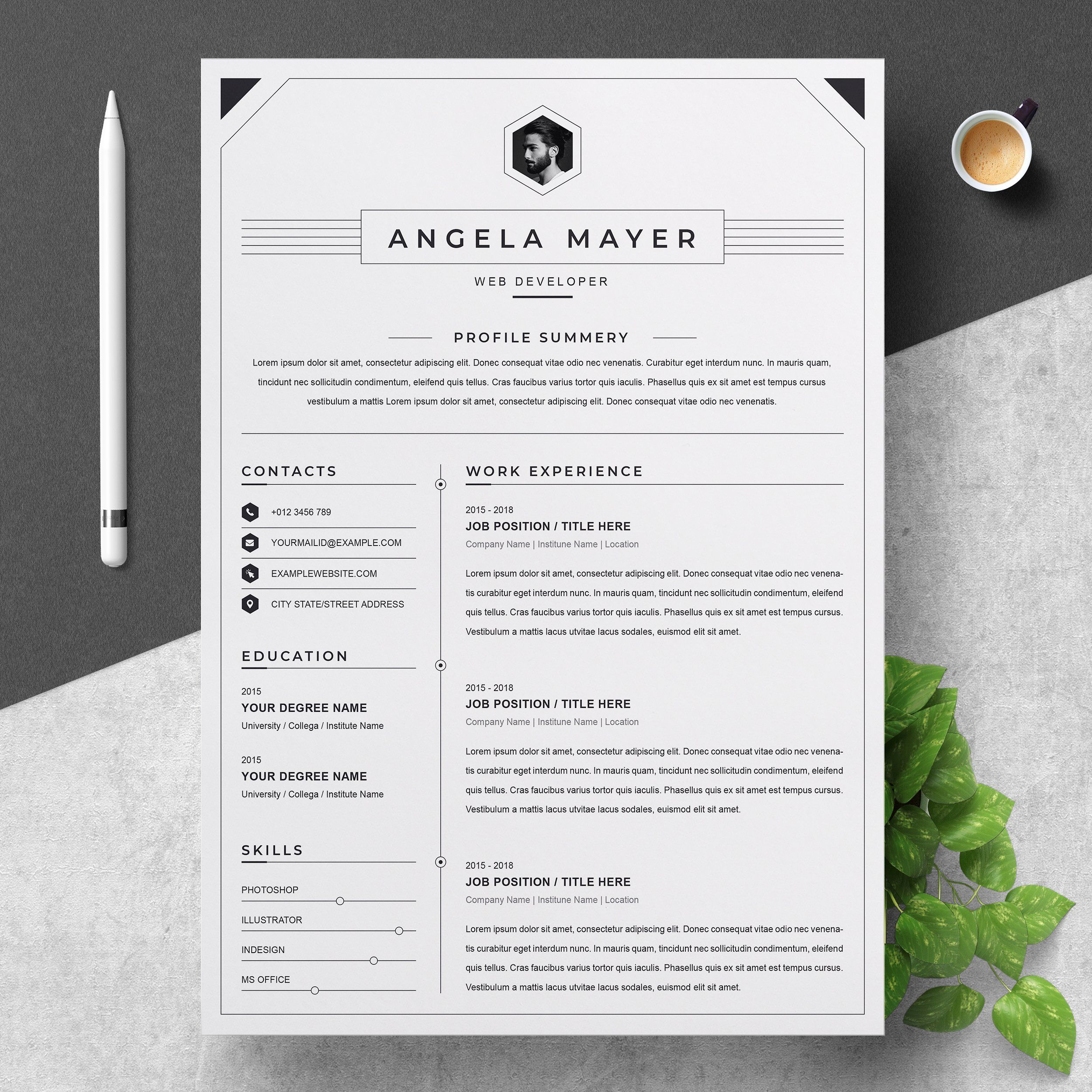 Clean And Professional Resume Cv Creative Resume Templates Resume Design Resume Cv