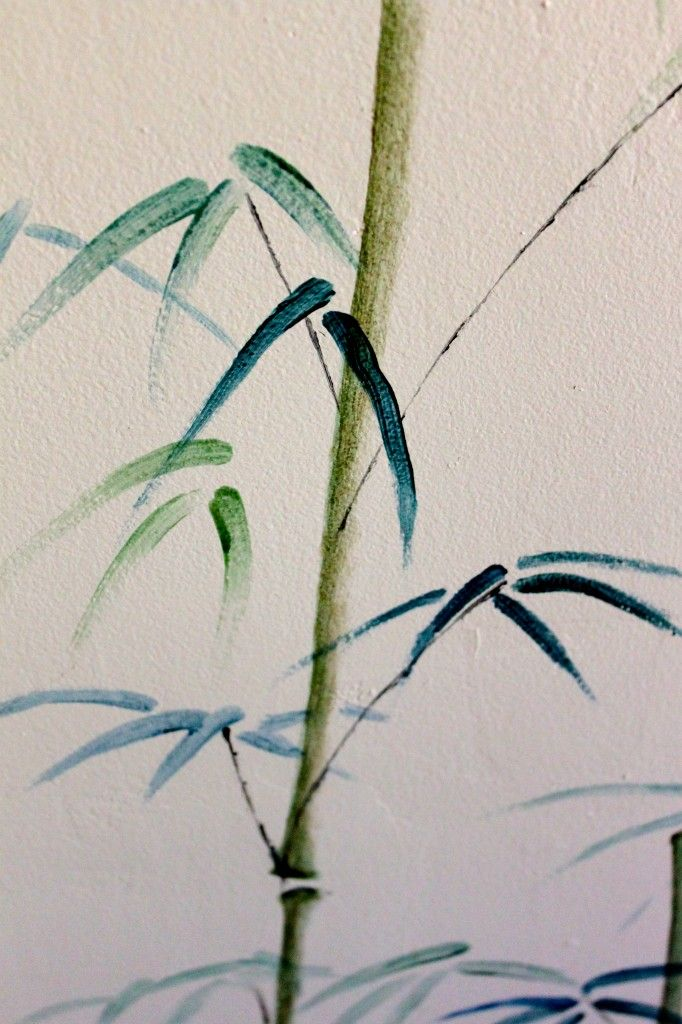 Bamboo Mural:  Before And After