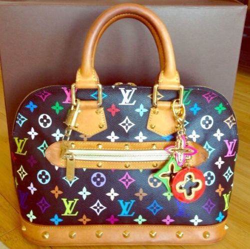 2444696a6fbc Authentic Louis Vuitton Multicolor Monogram Murakami Alma With Bag Charm !!