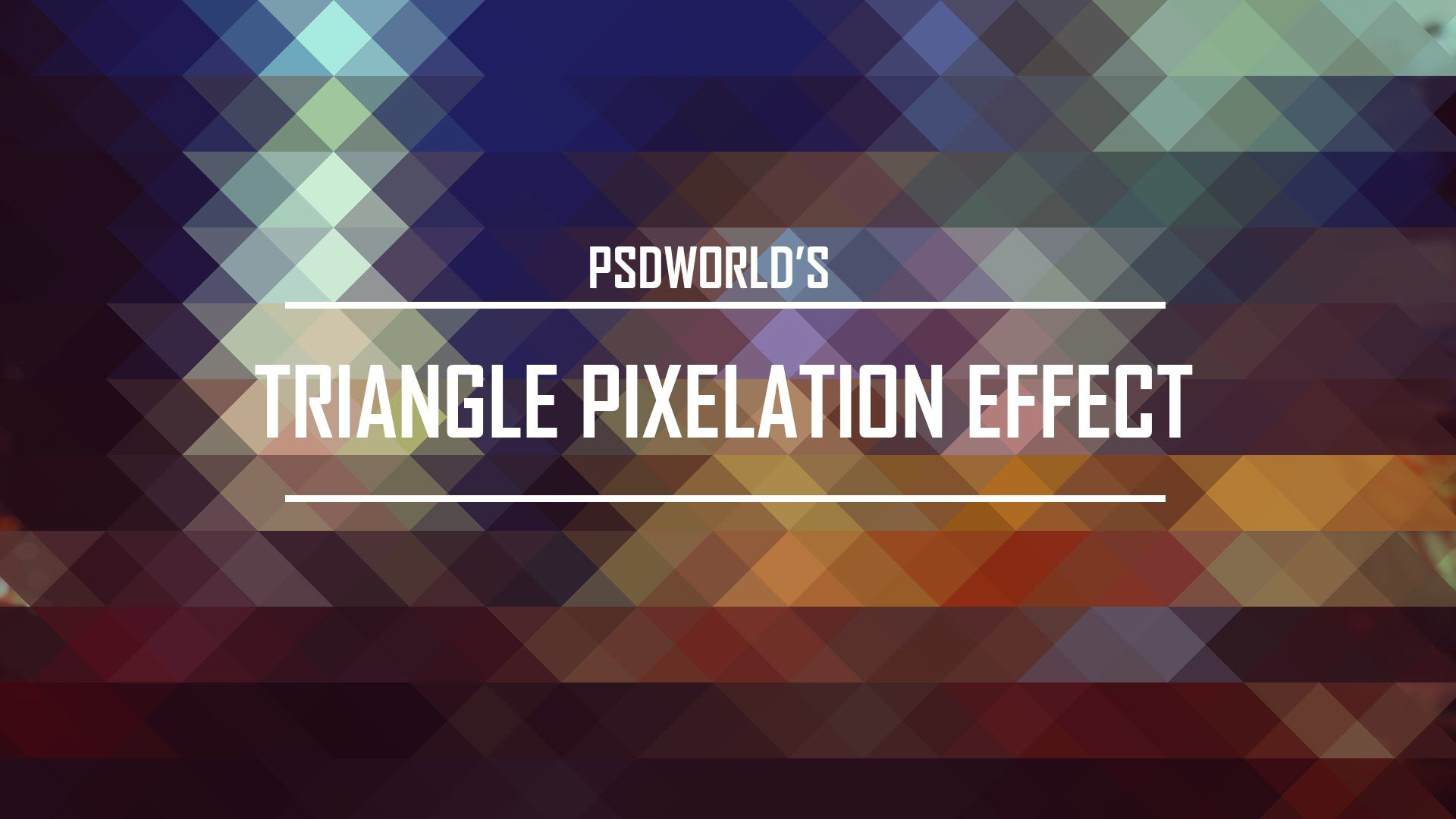 Learn How to Create a Triangle Pixelation Effect in