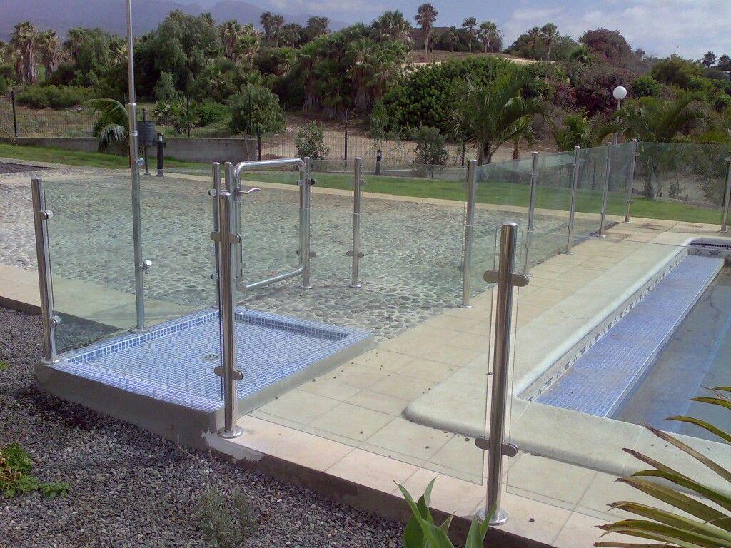 Cerramiento de piscina en acero inoxidable y cristal - Piscina de cristal ...
