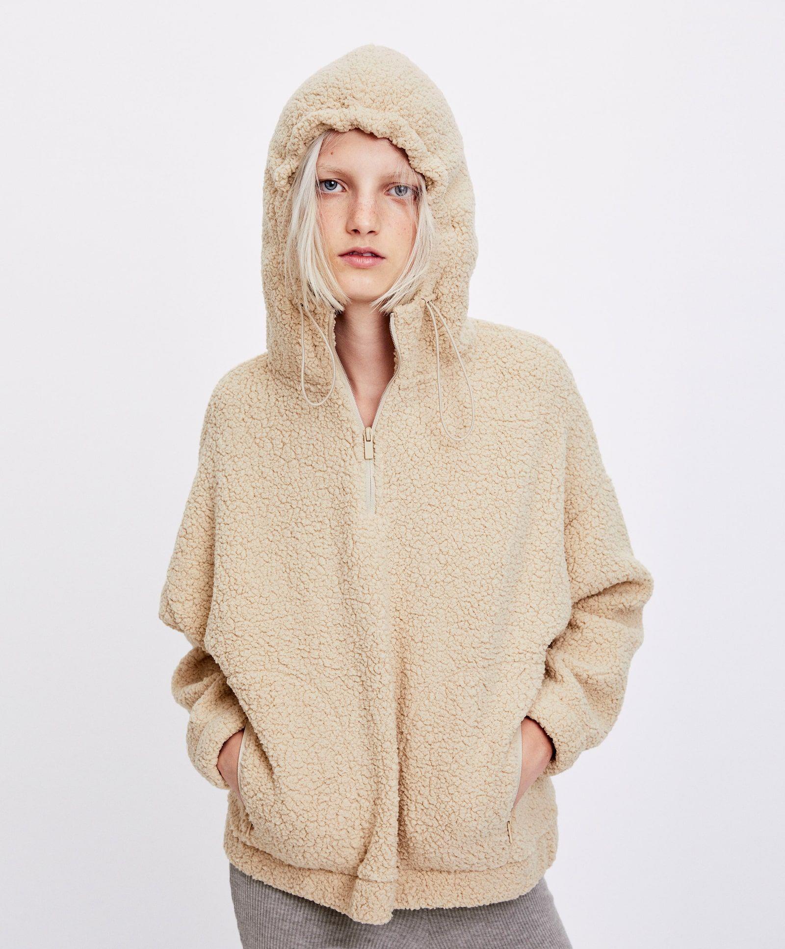 Beige Hooded Sweatshot Cotton Lounge Hoodie Streetwear Homewear Top Woman Hoodie Sportswear Longsleeve