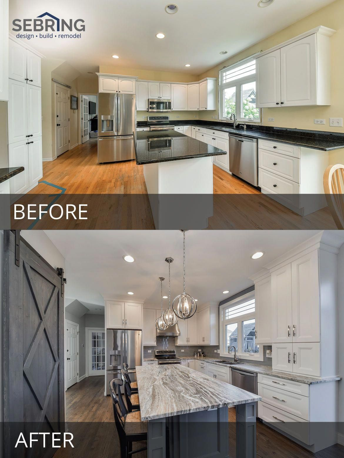 1960s Kitchen Remodel Before After: 's Naperville Kitchen Remodel Pictures, Featuring White
