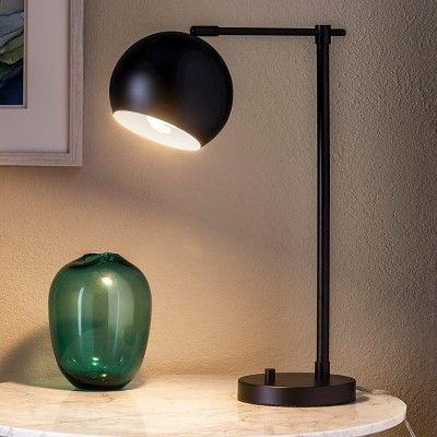 Modern Globe Task Lamp - Black (Includes Cfl Bulb) - Threshold