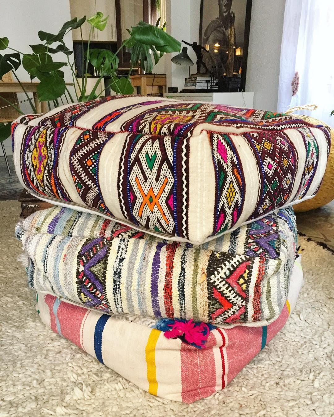 #berber #moroccan #ethnic #tribal #poufs #kilimpoufs #floor #cushions  #boho #bohemian #pufs