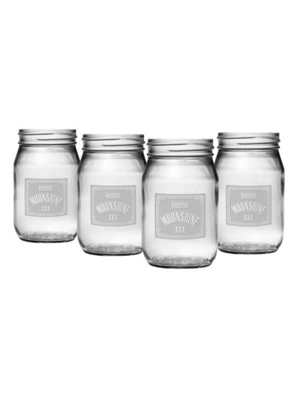 Moonshine Drinking Jars (Set of 4) by Susquehanna Glass Co. at Gilt