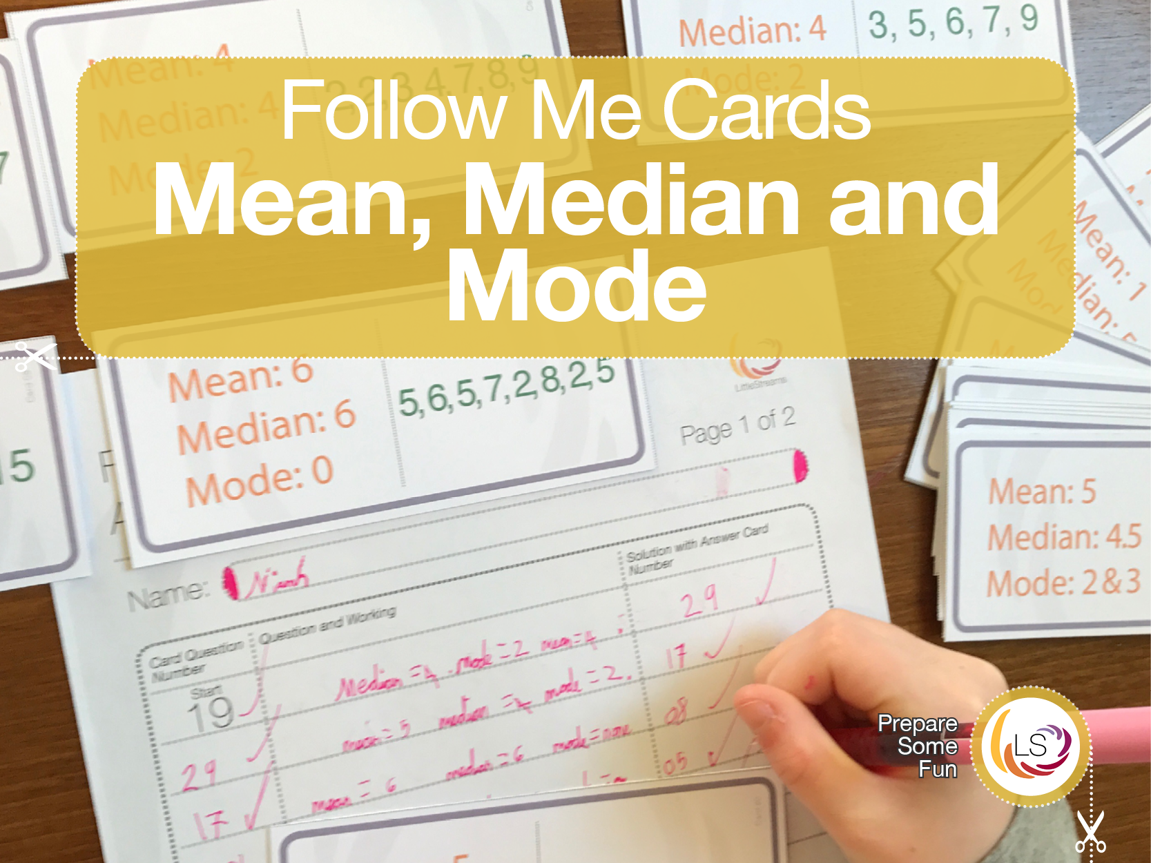 Averages Follow Me Cards