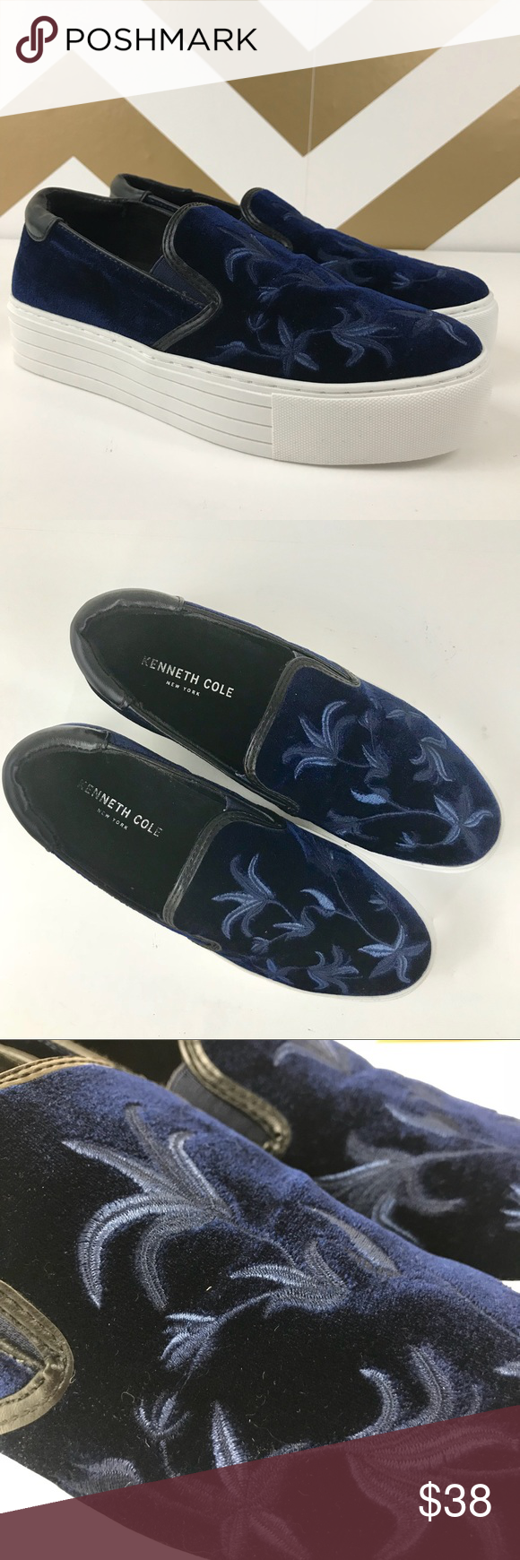 """3454518e0dd Kenneth Cole """"Alesy"""" Velvet Platform Sneakers-NWOT The perfect fashion  statement with jeans"""
