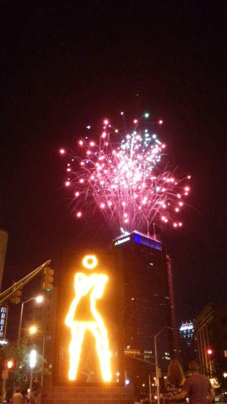 2014 Indianapolis fireworks.