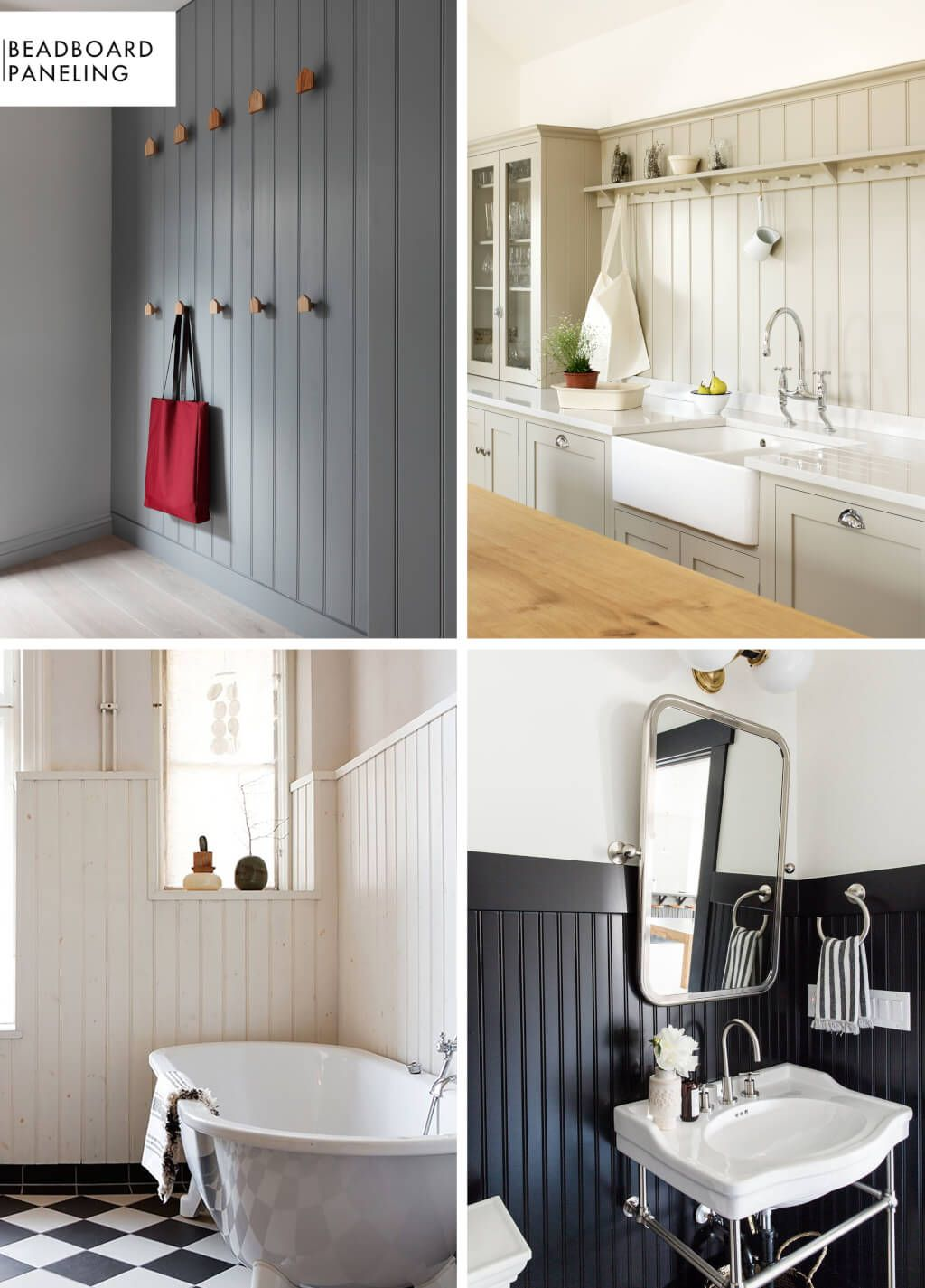 Add Character To Basic Architecture Wall Paneling A Roundup Emily Henderson Bathroom Wall Panels Beadboard Bathroom Interior Cladding