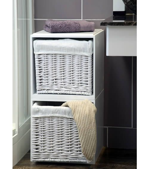 Modular Wooden Storage Cube · Wicker Bathroom ...