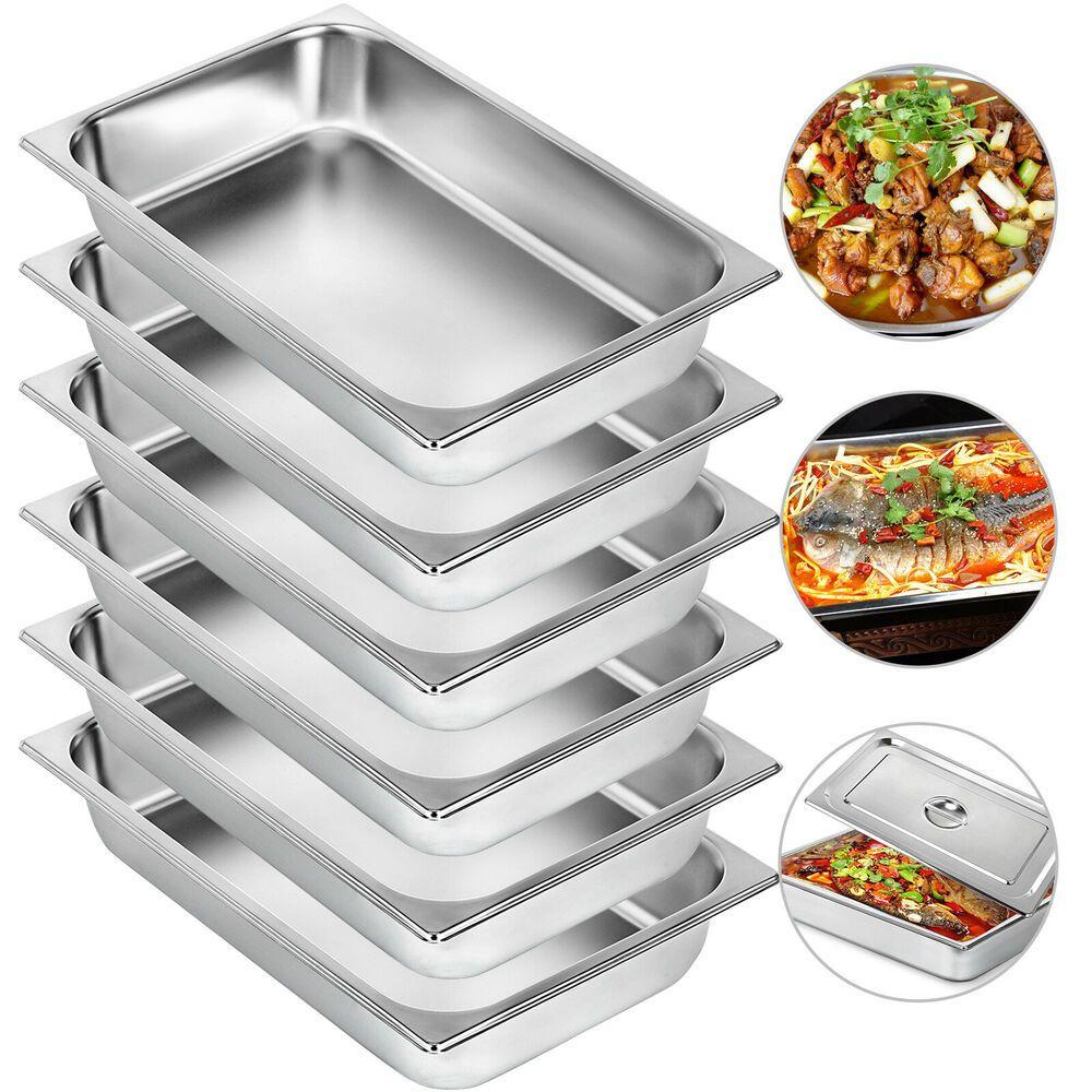 Ebay Sponsored Steam Table Pans Bain Marie 6 Pack Food Warmer