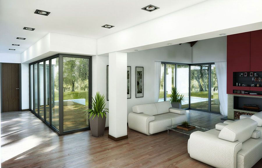 Full Length Glass Window Living Room