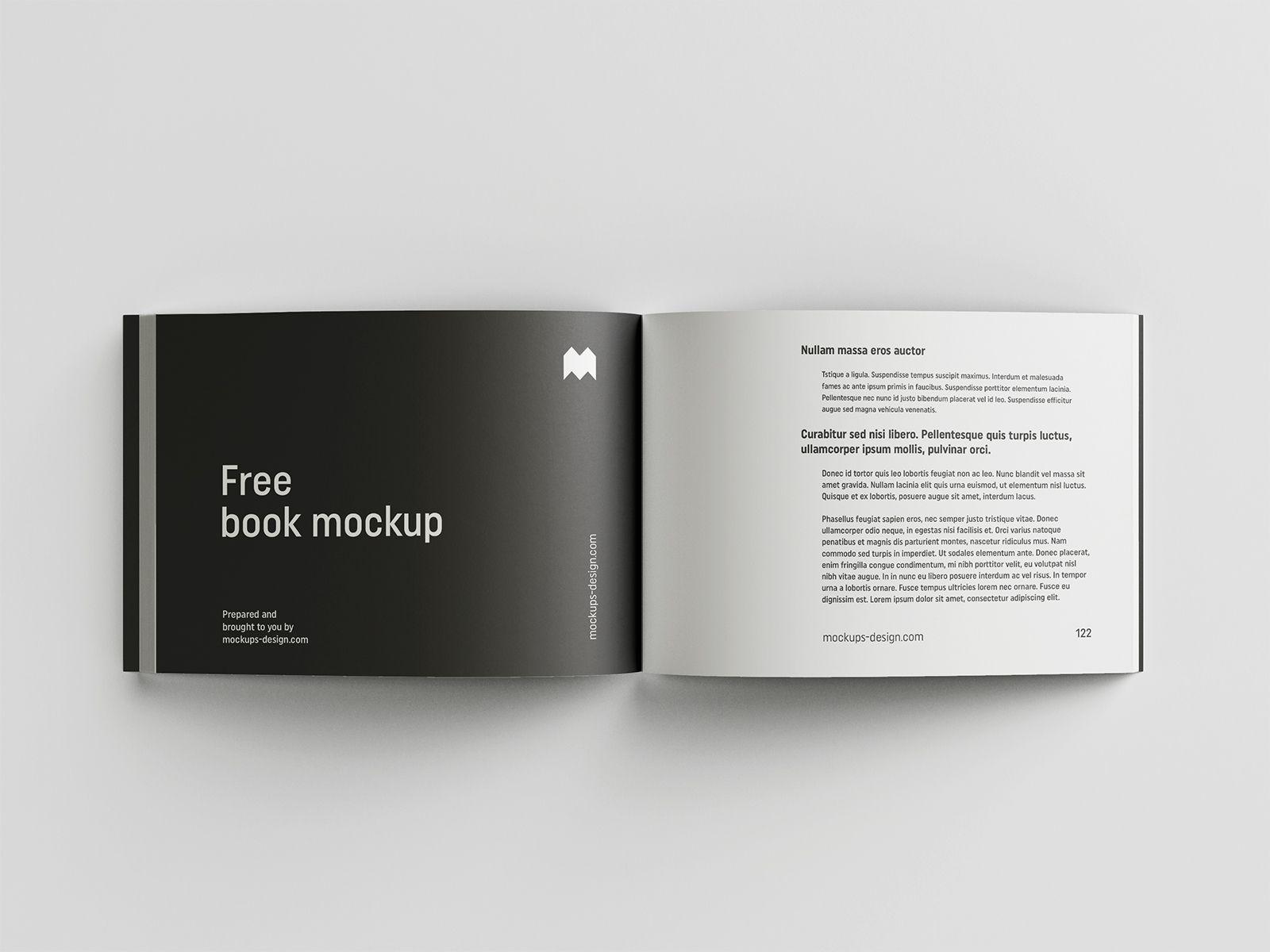 Free Landscape Book Mockup Free Mockup Free Mockup Mockup Free Psd Mockup Psd