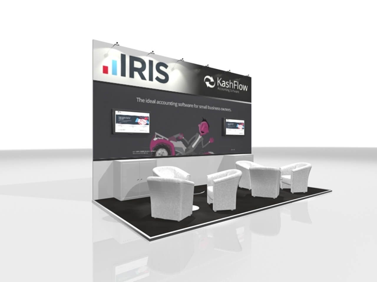 6m x 3m exhibition stand design exhibition pinterest for Kitchen design 6m x 3m