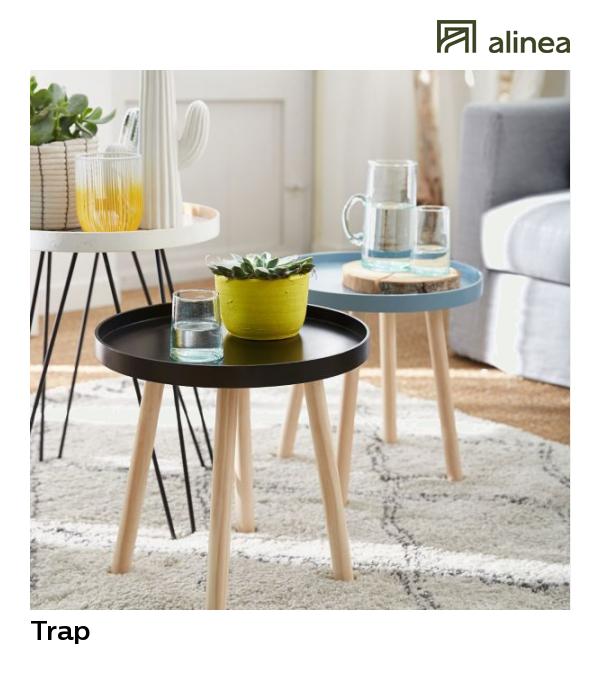 Alinea Trap Bout De Canape Style Scandinave Gris Bleute Meubles Salon Tables Basses Et D Ap Bout De Canape Bout De Canape Design Bout De Canape Scandinave