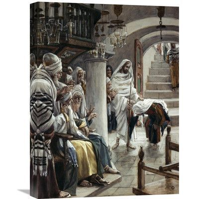 Global Gallery 'Woman Who Had an Infirmity 18 Years' by James Tissot Painting Print on Wrapped Canvas Size: