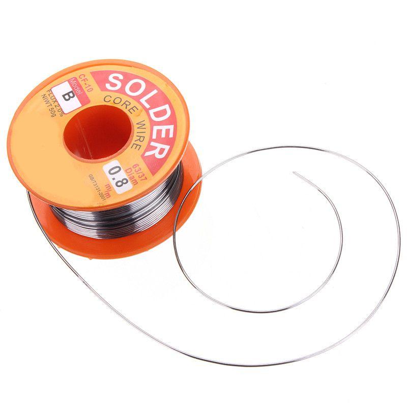 Wire Tin Rosin Core Lead Free Solder Flux Soldering Welding Iron Wire Reel Kit