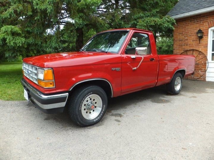 1989 Ford Ranger Xlt Only The 1 I Had Was White Also The Only Car I Ever Totaled Haha It Really Wasnt My Fault Tho P Just So U Ford