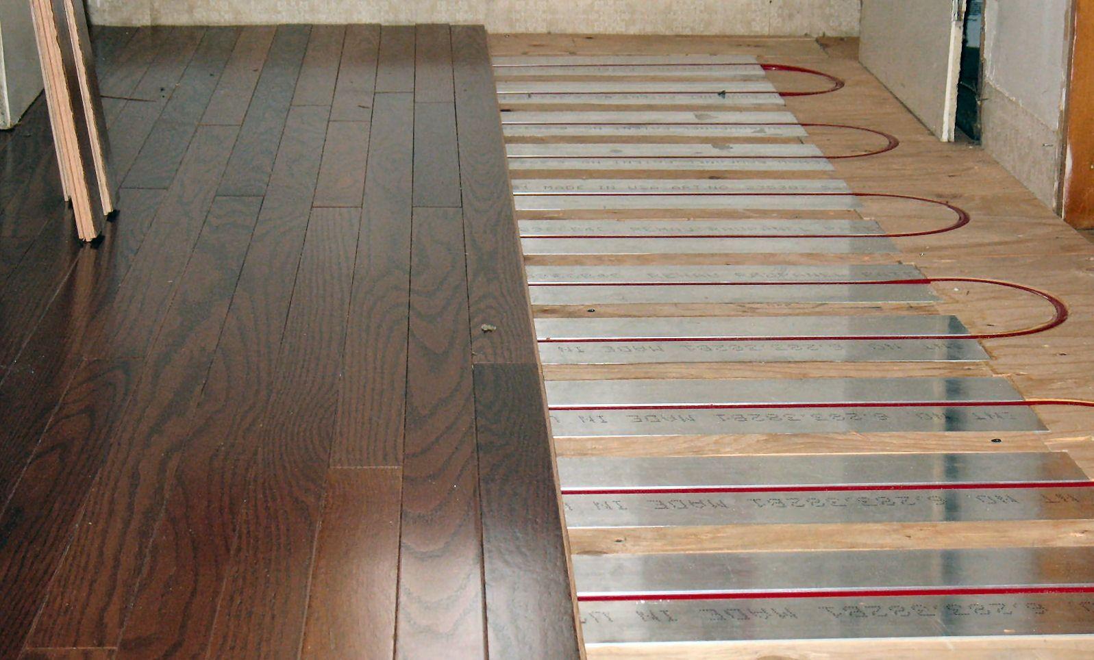 Radiant Heat Under Wood Floors Floor Heating Systems Radiant Floor Heating Hydronic Radiant Floor Heating