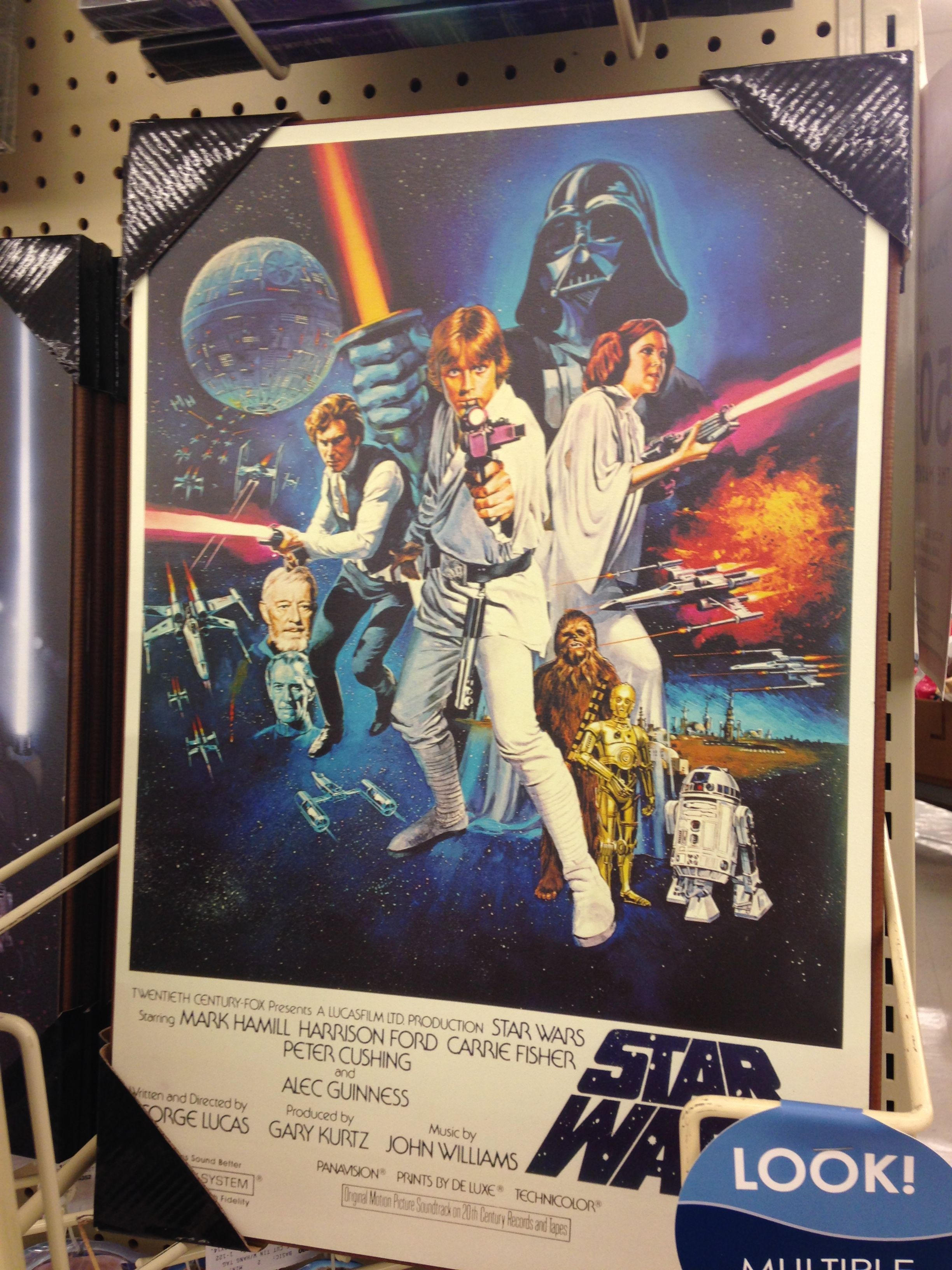 Hobby Lobby Star Wars Wood Picture Star Wars Poster Star Wars Art Star Wars 1977