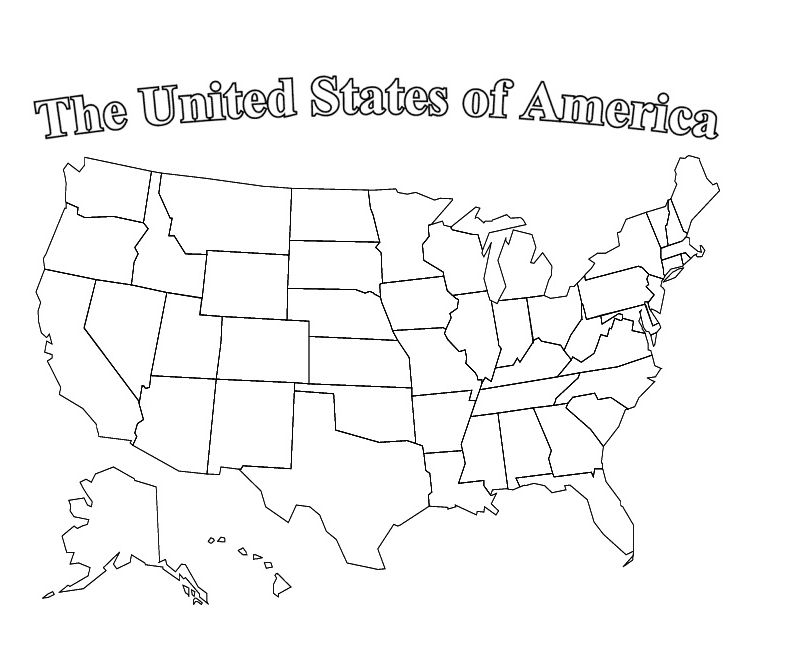 Us Map Coloring Pages Usa Travel Map Map Outline Us Map