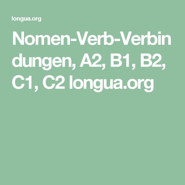 nomenverbverbindungen a2 b1 b2 c1 c2 longuaorg