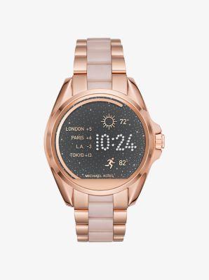 4f7868074e67 Reloj inteligente Bradshaw en tono dorado rosa y acetato de Michael Kors  Access