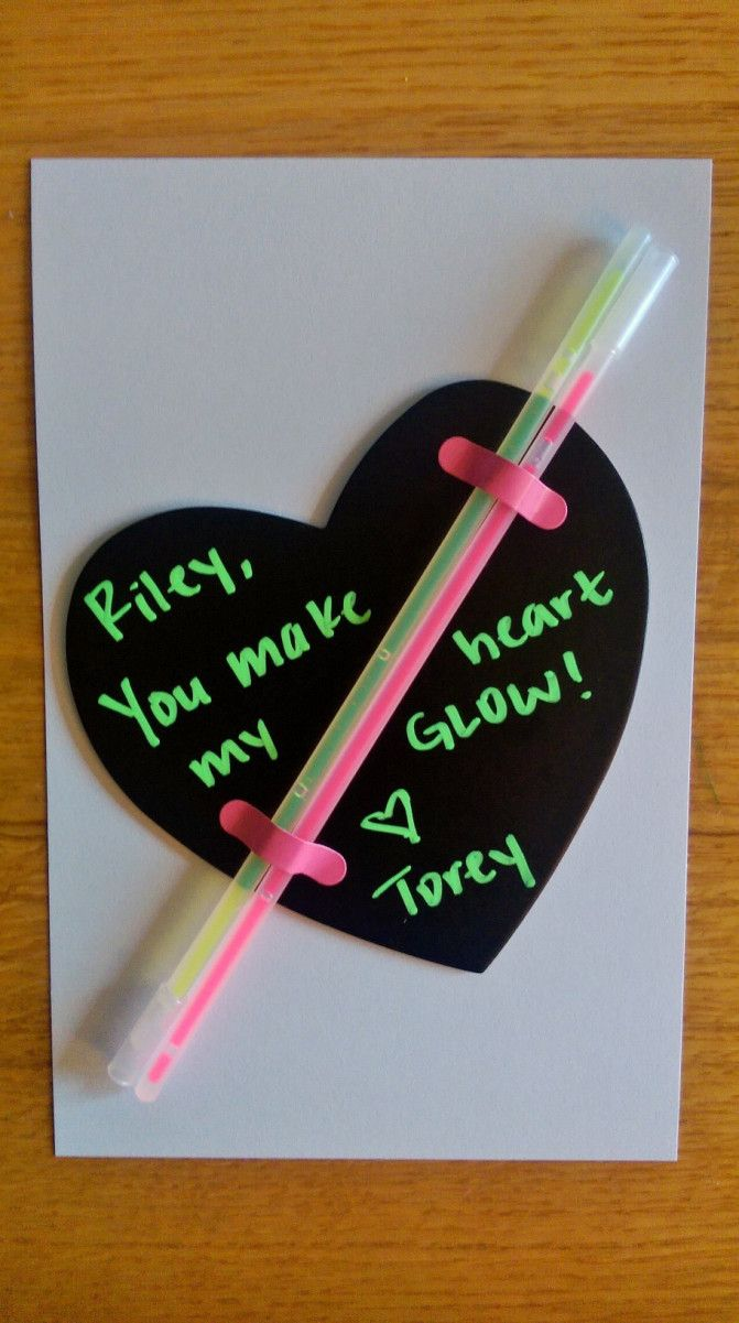 """You Make My Heart Glow"" easy DIY Valentines!"
