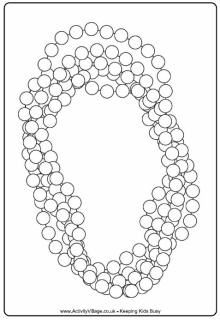 Mardi Gras Beads Colouring Page Coloring