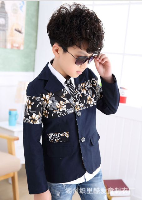 Big Boys Casual Blazers Kids 3 16y Children Single Breasted Floral Korean  Style for Wedding Outwear Clothing EB02…   Boys casual, Boys casual blazer,  Casual blazer
