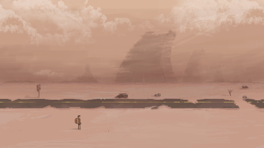 This is the variant of latest art. As you'd expect we will see many apocalyptic places like this #pixelart #indiedev