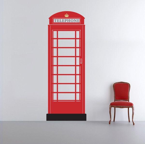 British Theme - Telephone Box Wall Sticker