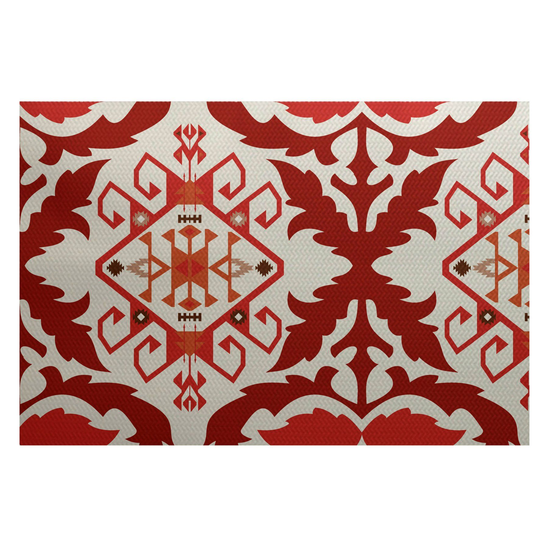 E By Design Bombay 6 Indooroutdoor Area Rug  Rgn730Bl38 23