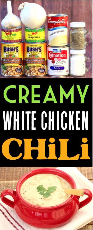 White chicken chili recipe easy one pot dinner diy thrill creamy white chicken chili recipe this easy weeknight dinner idea makes a big pot of forumfinder Gallery