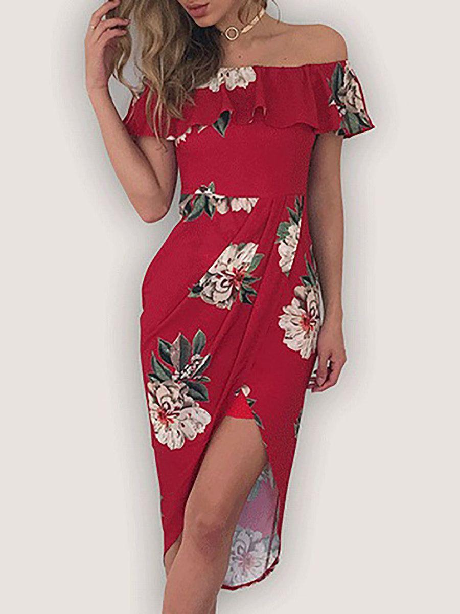 Adorewe justfashionnow boho dressesdesigner bolaiyi red floral
