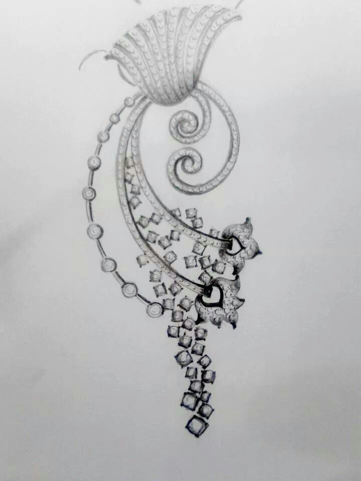 Earring Sketch Jewelry Drawing Jewellery Sketches Jewelry