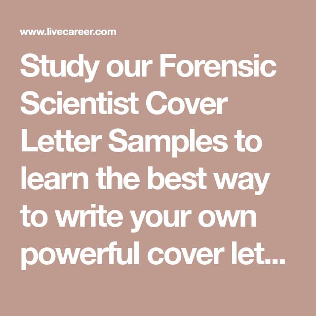 forensic scientist samples