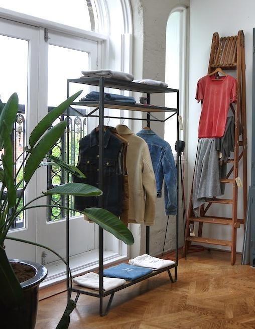 stalen kleding rek industrieel | v in 2019 | walk in closet