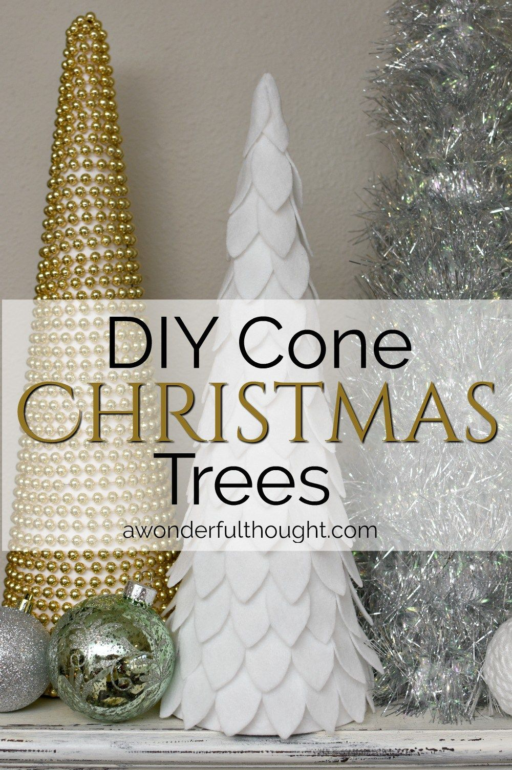 Diy Cone Christmas Trees.Diy Cone Christmas Trees A Wonderful Thought Cone Christmas