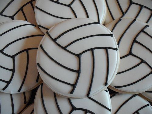 Sweetsugarbelle Volleyball Cookies Volleyball Cakes Sugar Cookies Decorated