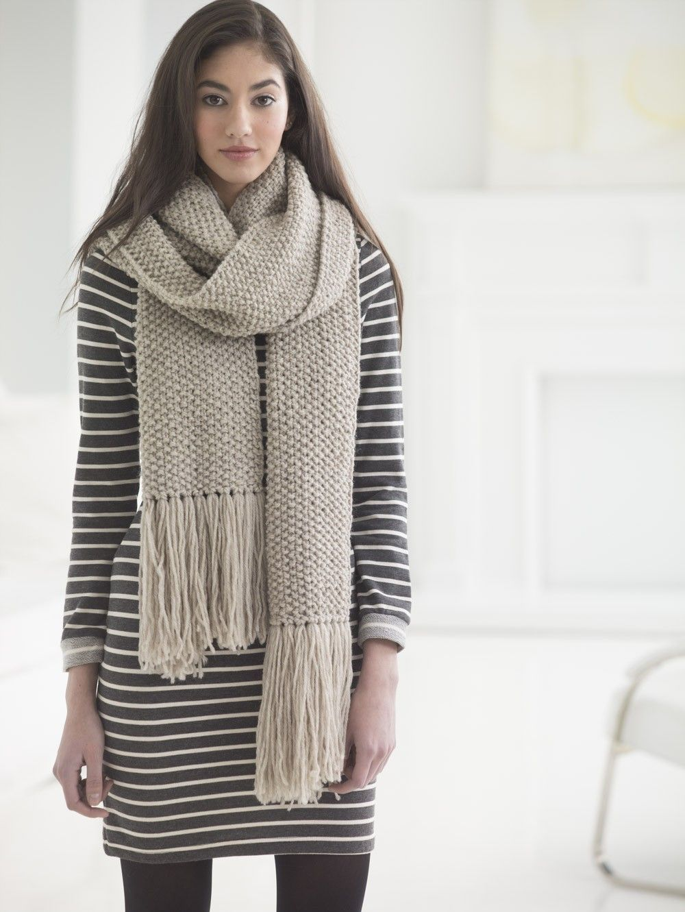 Hudson Seed Stitch Scarf (Knit)   knitting   Pinterest