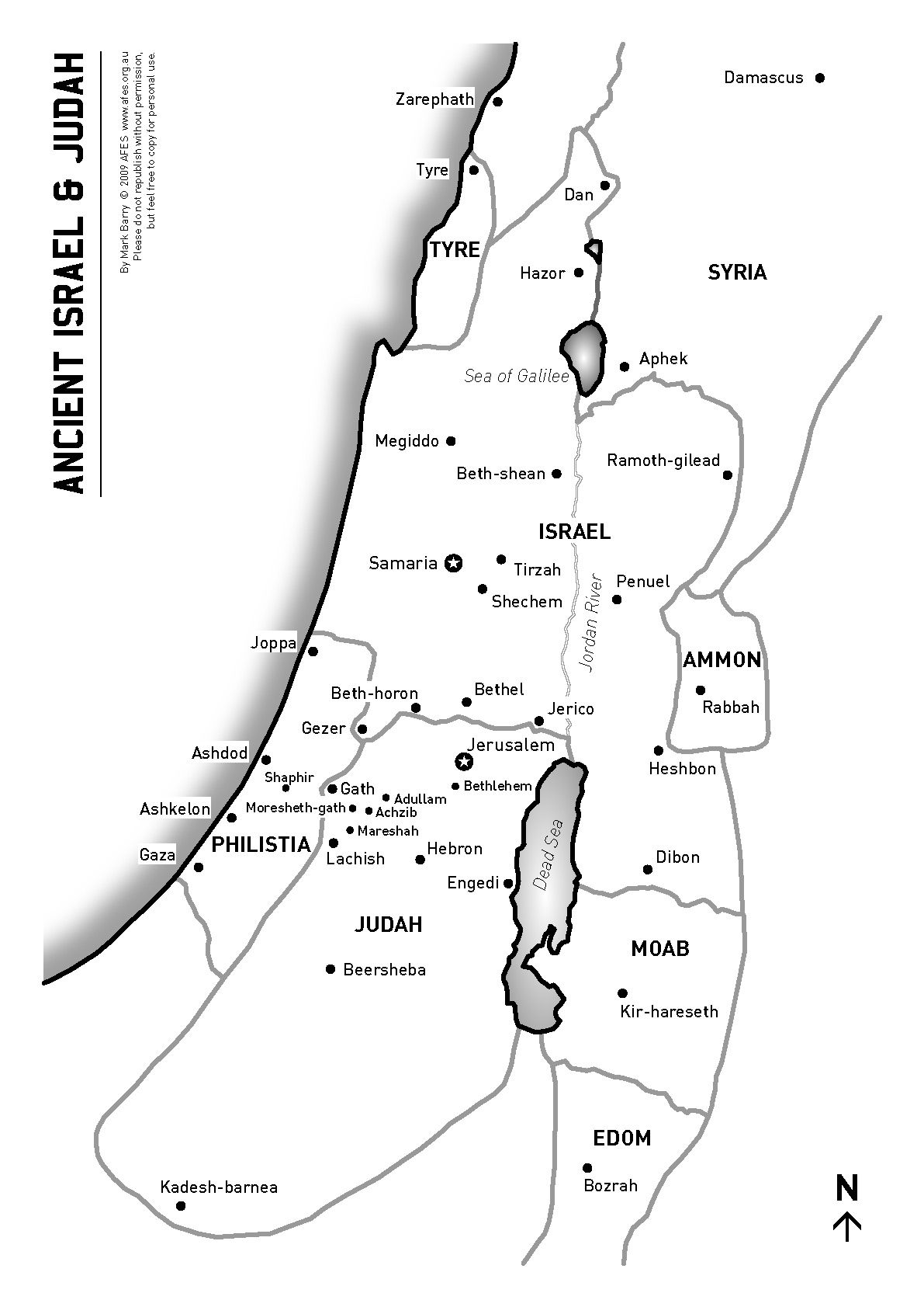 A Map Of Ancient Israel And Judah Version