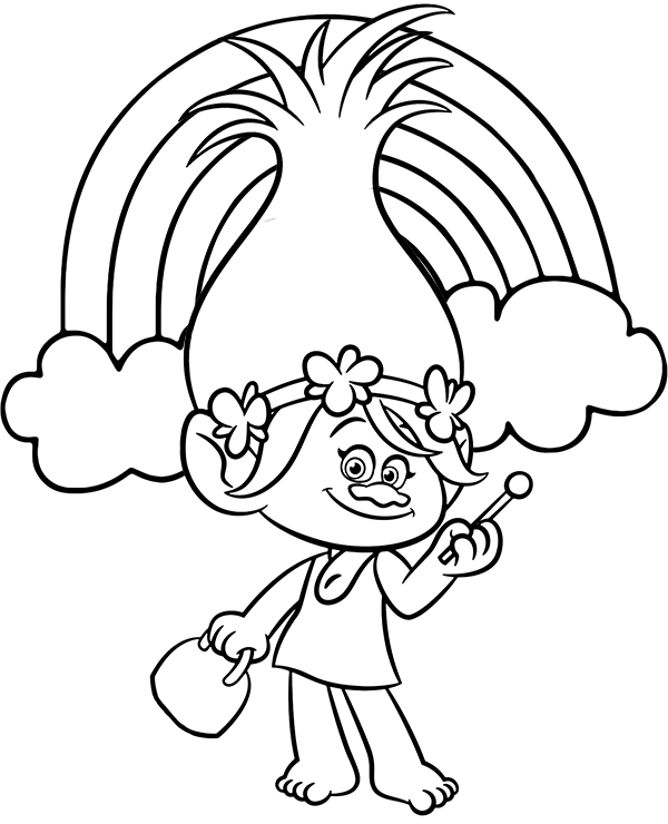Trolls Poppy And Rainbow Poppy Coloring Page Disney Coloring Pages Printables Disney Coloring Pages